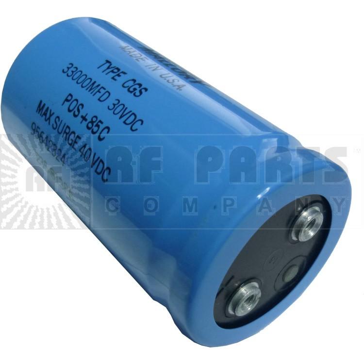 CGS333U030 Capacitor, Electrolytic 33000uf 30vdc, Mallory