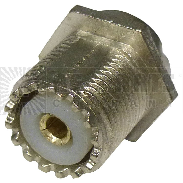 CH239  UHF Female Bulkhead Chassis Mount Connector, W/solder cup, backilite