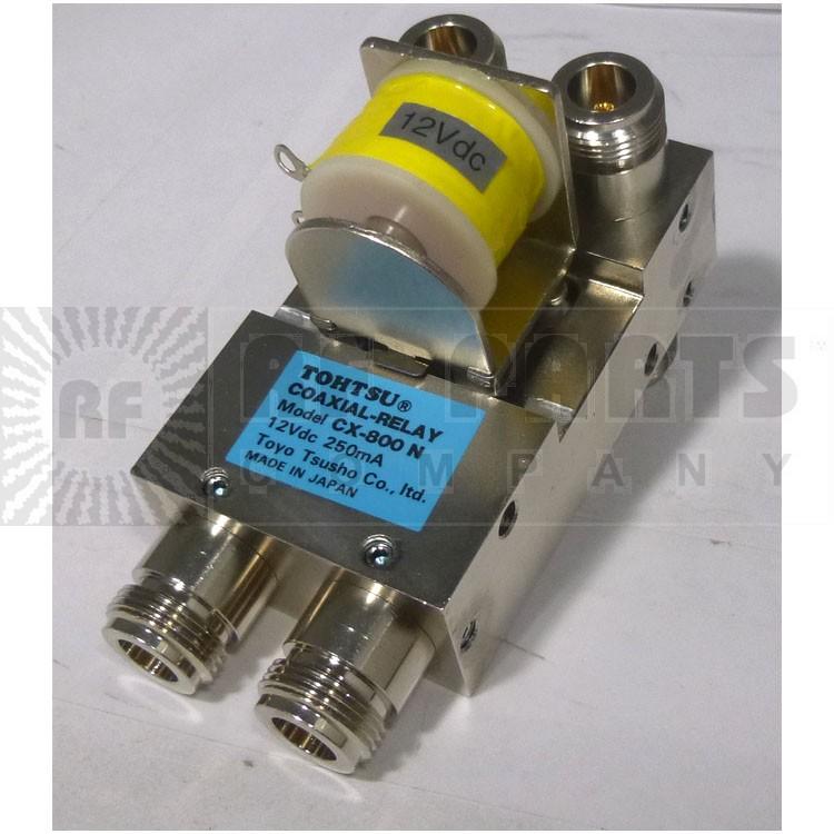 CX800N-12 Coaxial relay, DPDT, 12 Volt, Type-N Connectors, Tohtsu