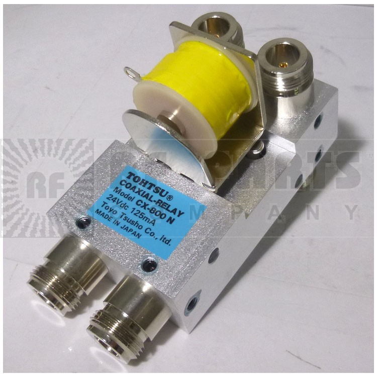 CX800N-24 Coaxial relay, DPDT, 24 vdc, Type-N Connectors, Tohtsu