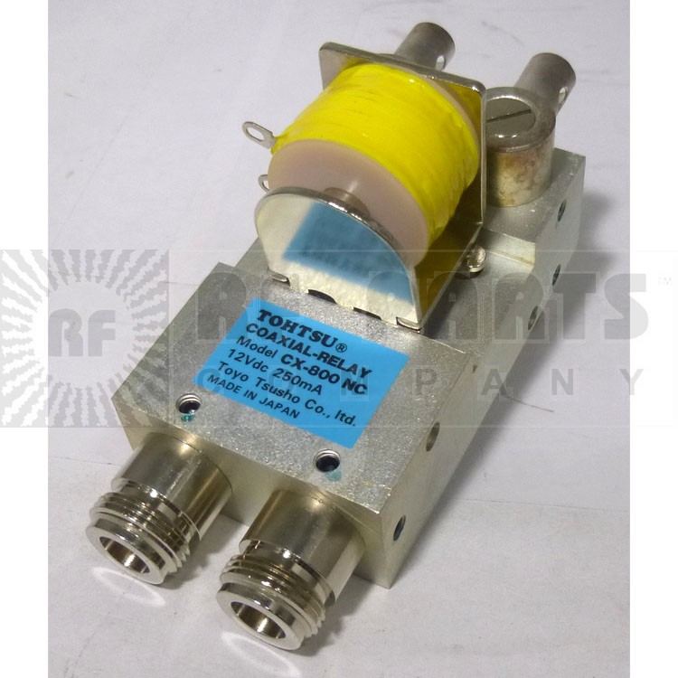 CX800NC Coaxial Relay, DPDT, Type-N to Direct Connect, Tohtsu