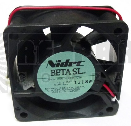 D06T12TM Fan, nidec 12v .08a