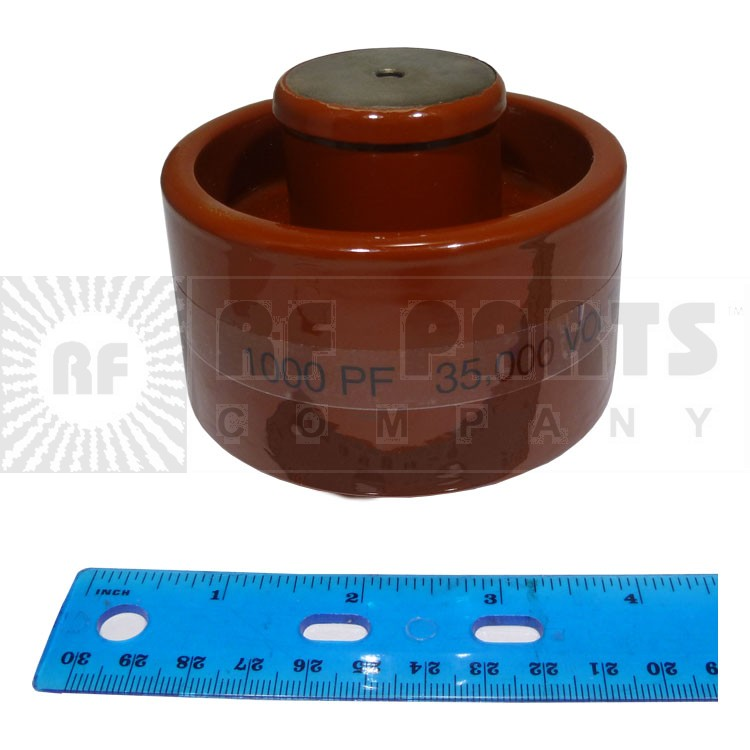 1000-35 Doorknob Capacitor, 1000pf 35kv, Clean Used Condition
