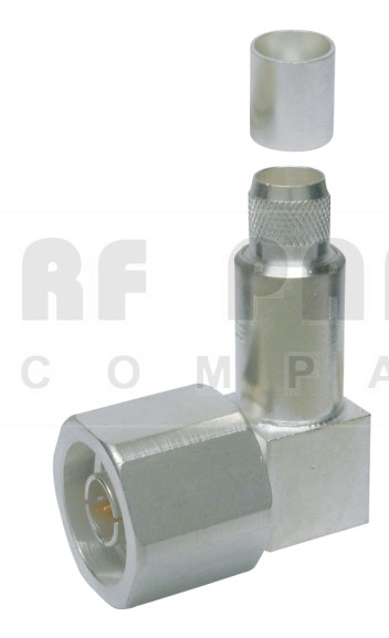 EZ400NMHRA  Type-N Male Crimp Connector, Right Angle, Captivated Pin, TIMES