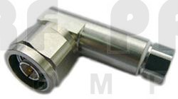 F1TNR-HC Type-N Male Connector, Right Angle, FSJ1-50A