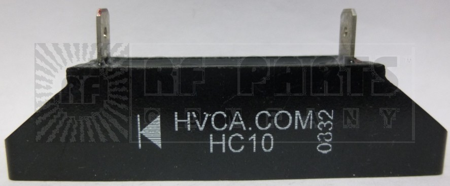 HC10 HIGH VOLTAGE RECTIFIER BLOCK WITH MOUNTING SLOTS, 1amp 10kv