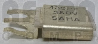 J101-130F  Metal Cased Mica Capacitor, 130pf