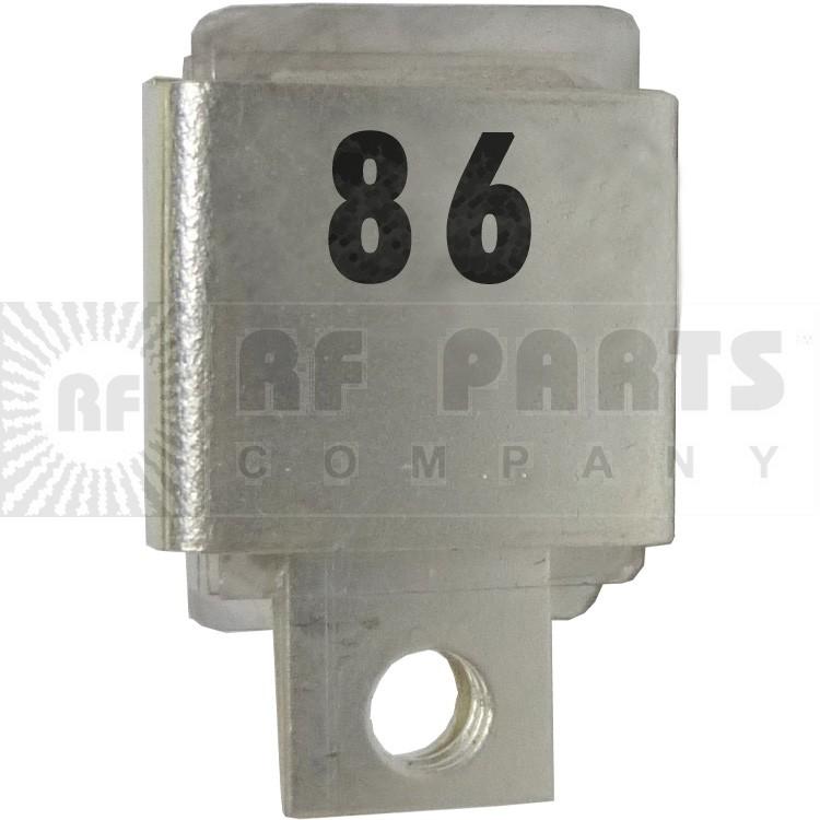 J101-86  Metal Cased Mica Capacitor, 86pf