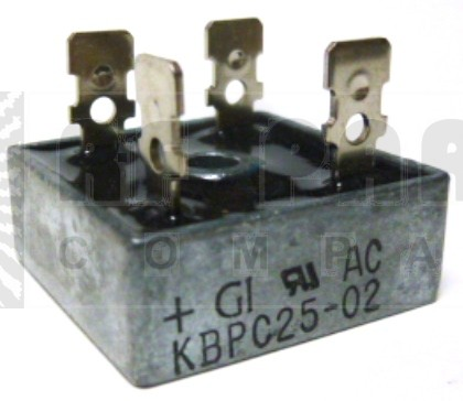 KBPC25-02 Bridge Rectifier, 25amp 200v