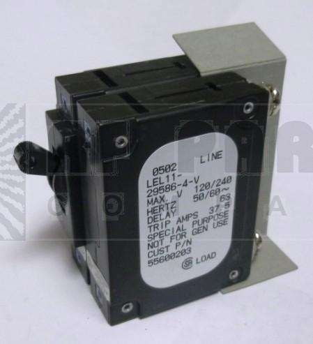 LEL11-29586-4-V Circuit Breaker, Dual AC, 30a, AIRPAX