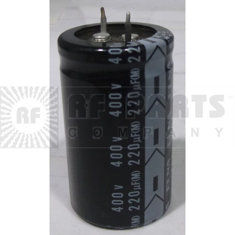 LGK2G221MHSA Capacitor, snap lock, 220uf 400v, Nich