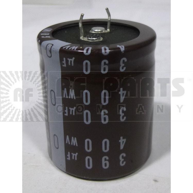 LLK3W390MHSB Capacitor, 390uf 400vdc, Snap lock can electrolytic, Nich