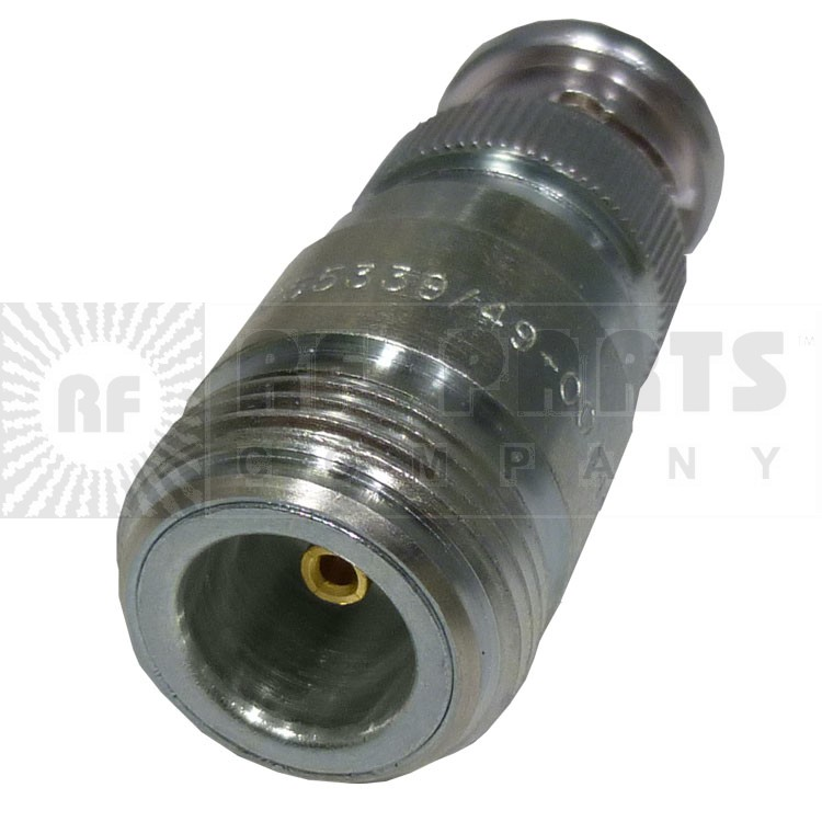 M55339/49-00349  BNC Between Series Adapter, BNC Male to Type-N Female, Mil-Spec, MFR: Delta