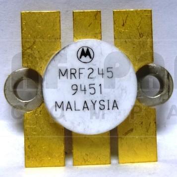 MRF245 Transistor, NPN silicon RF Power Transistor, 80 Watt, 12 volt, 175 MHz, Motorola