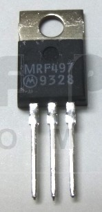 MRF497 NPN Silicon RF Power Transistor, 40 Watt, 50 MHz, 12 volt, Motorola (Can replace MRF477)
