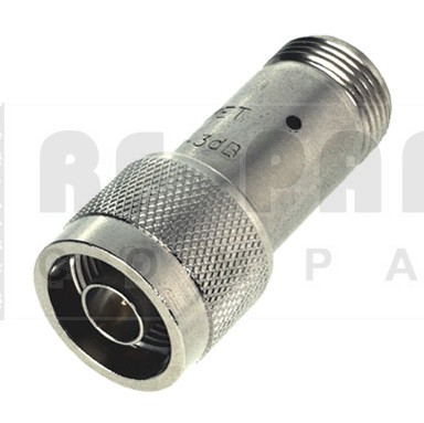 9070-30 Attenuator, Type-N Male/Female, 30dB, 2 Watt, Aeroflex