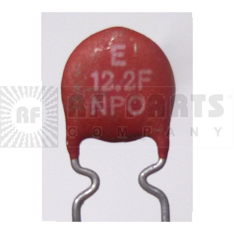 NPO-12  Disk Capacitor, 12pf (Cut Lead)