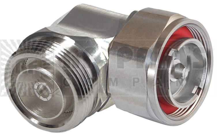 P2RFD1652-SS Adapter, Right Angle, 7/16 DIN Male to Female, LOW PIM, RFI