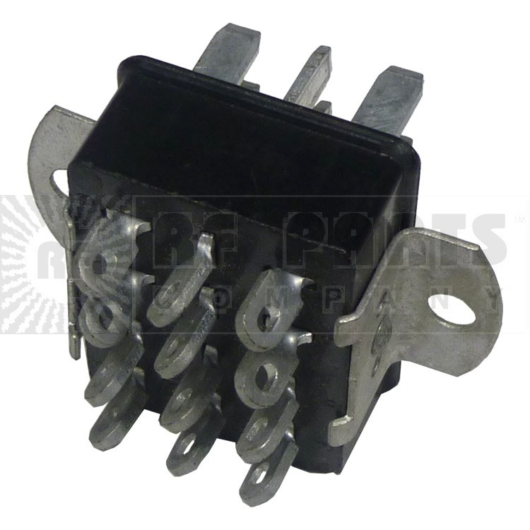 P312AB  -  12 Pin Cinch Connector Plug  w/Angle Brackets (Jones)