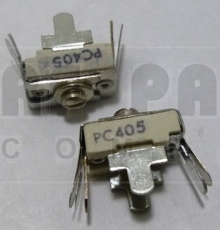 405-PC Trimmer, capacitor, 10-80 pf, pc mount