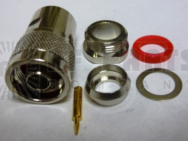 PE4062 Type-N Male Clamp Connector, RG8 / 11 / 213 / 214 / 393