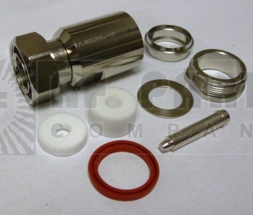 PE44277 7/16 DIN Male Clamp Connector, RG218