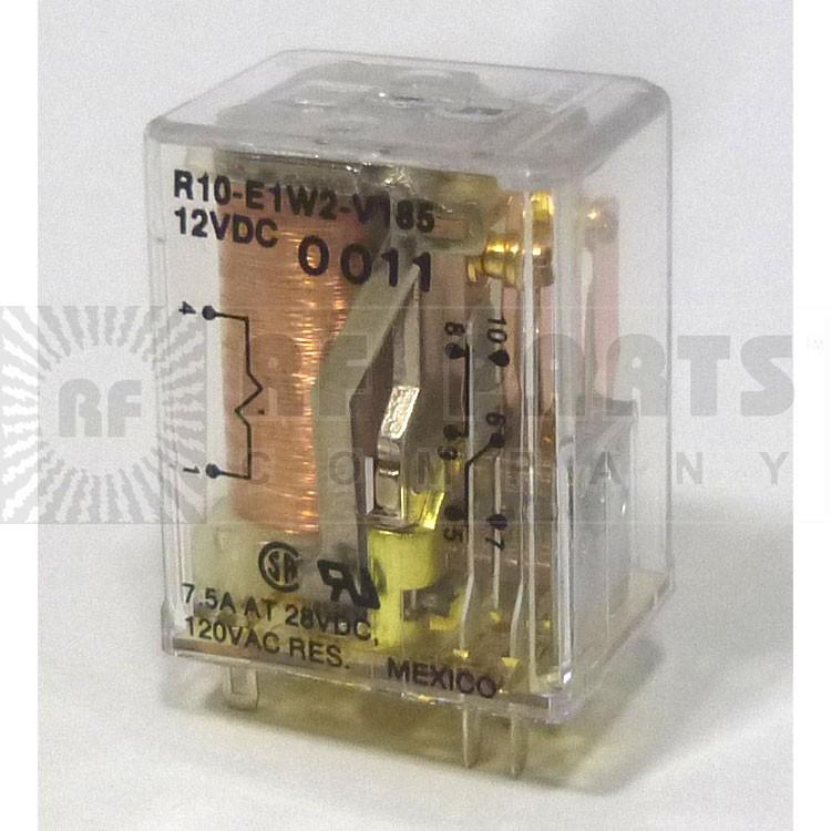 R10E1W2-V185 Relay, dpdt 7.5 amp term
