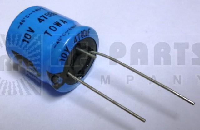 RAD4700-10 Electrolytic Capacitor, 4700uf 10v, Towa