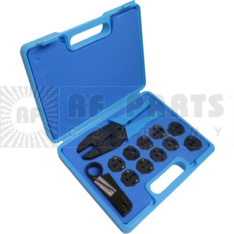RFA4005-520 - Commercial grade Coax crimp tool and stripping kit