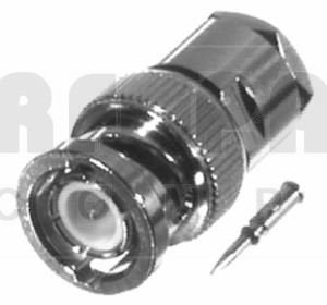31-2-RFX BNC Male Clamp Connector, Cable Group C, Amphenol