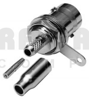 RFB1116-B-03Connector, BNC Female Crimp Bulkhead, RFI