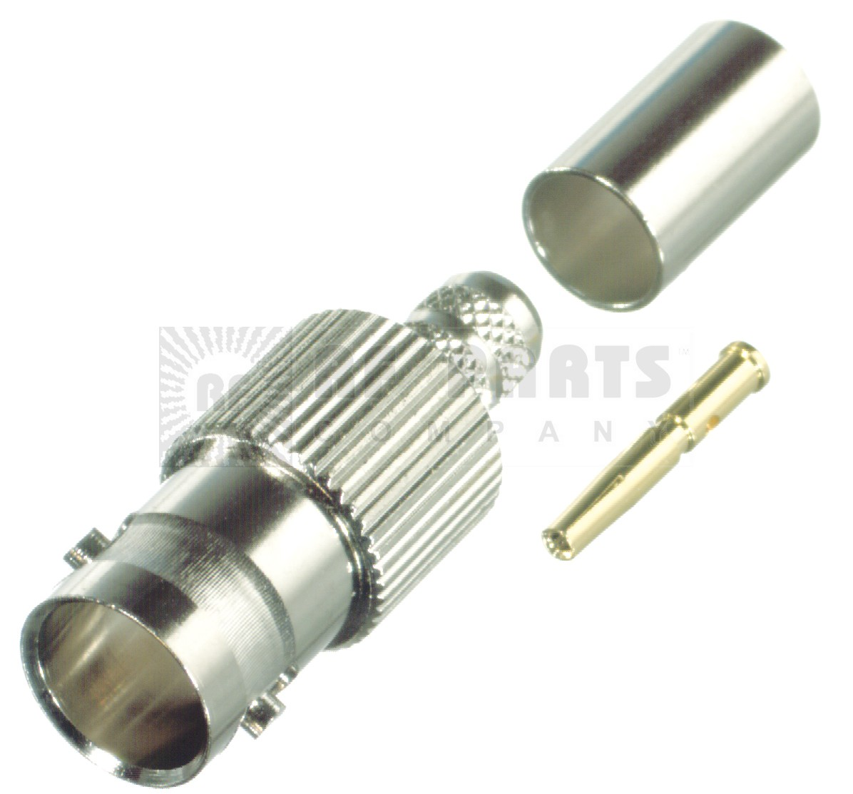 RFB1724-S Connector, BNC Female Crimp, 75 Ohm, RFI