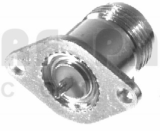 RFN1020-1 Type-N Female 2 Hole Chassis Mount