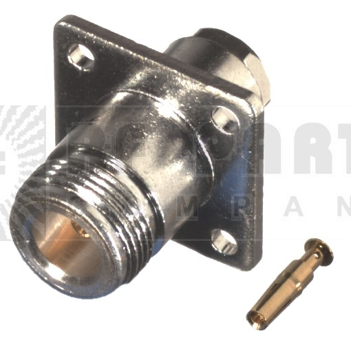 RFN1021-6 Type-N Female, 4 Hole Panel Mount, Clamp Connector, RFI