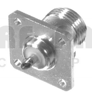 RFN1021 Type-N Female Chassis Connector, 4 Hole Panel, RFI
