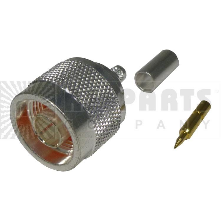 RFN1005-3C Type-N Male Crimp Connector, For RG58/LMR195 silver, RFI