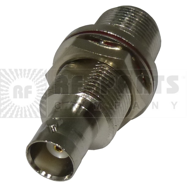 RFN1023-5  Type-N IN Series Adapter,  Type-N Female to BNC Female Bulkhead, RFI