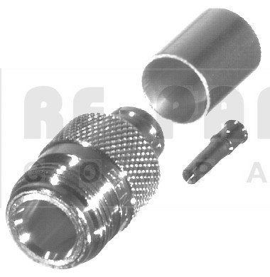 RFN1028-SI Type-N Female Crimp Connector, RFI