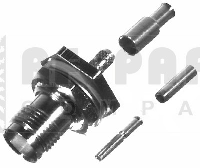 RFT1212-B TNC Female Crimp Bulkhead Connector, RFI