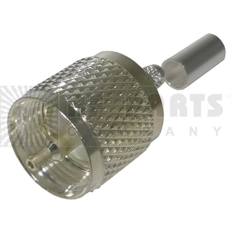 RFU505-ST UHF Male Crimp connector, (PL259) (Silver-Teflon), RFI