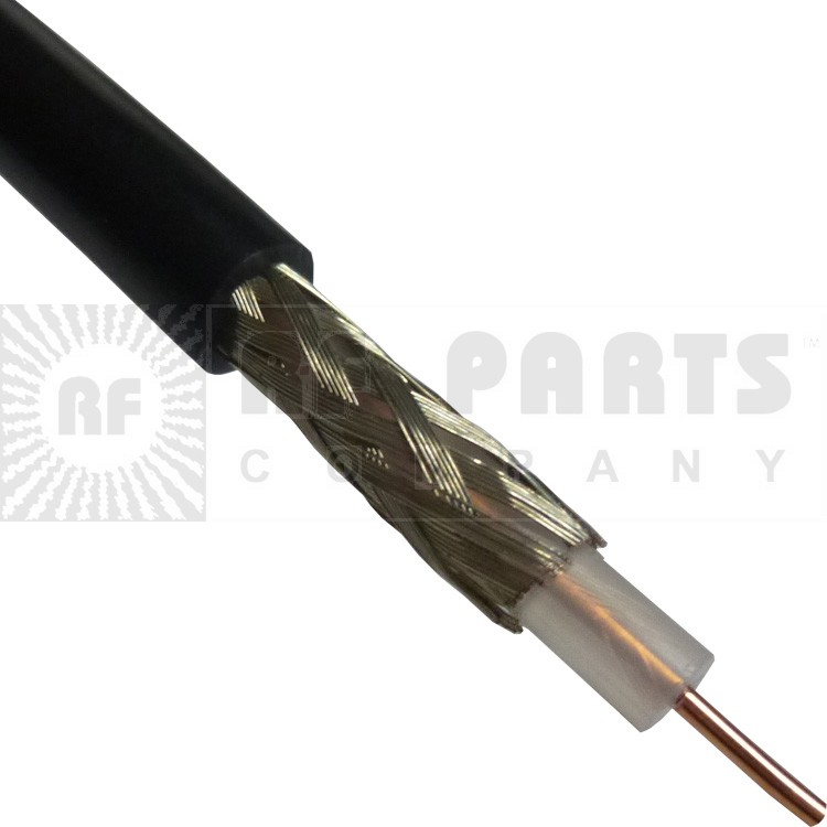 RG58U-BEL Coax Cable, Solid Center Conductor, Belden