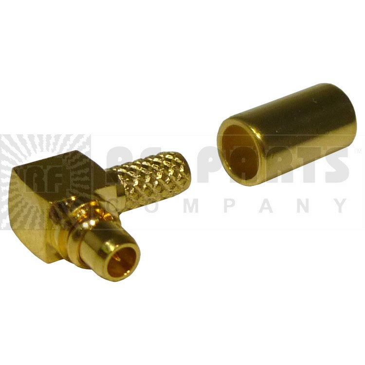 RMX9010-1B  MMCX Male Right Angle Crimp Connector, RFI