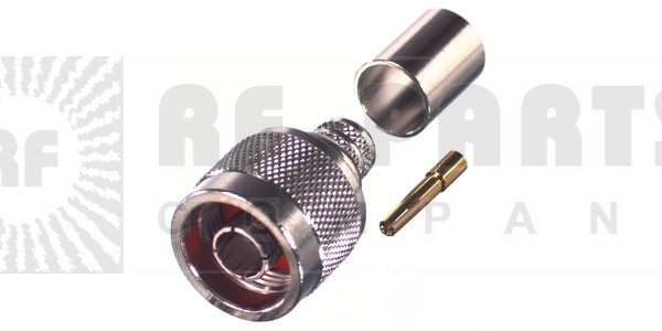 RP1006-3I Connector, Type N Reverse Polarity Male Crimp, RFI