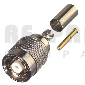 RP1202-X Connector, TNC Reverse Polarity Male Crimp, RFI