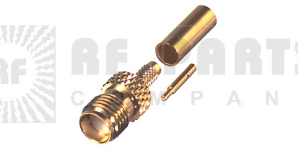 RP3050-1B Connector, SMA Reverse Polarity Female Crimp, RFI
