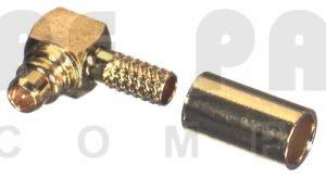 RP9010-1B; Connector, Right Angle MMCX Reverse Polarity Male Crimp, RFI