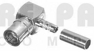 RSB4010-B Connector, r.A smb(m) crimp