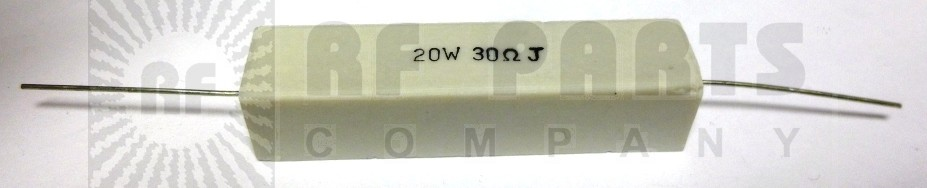 RSQ20-30 Resistor, 30 ohm 20 watt, Cement wirewound