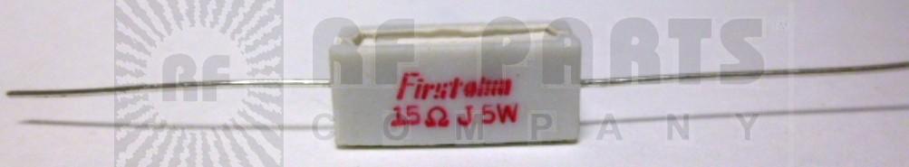 RSQ5-15 Resistor, 15 ohm 5w cement