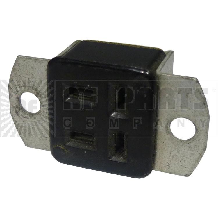 S304AB  4 Pin Cinch Connector Socket w/Angle Brackets  (Jones)